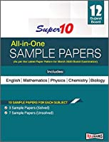 Super 10 All-In-One Sample Papers Class 12th Gujarat Board 2020 (As Per The Latest Paper Pattern For March 2020 Board Examination)