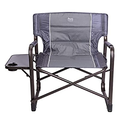 "Timber Ridge XXL Directors Chair Oversized Supports 600 lbs, 28"" Wide Heavy Duty Folding Camping Chair Fully Padded with Side Table for Outdoor Camp, Patio, Lawn, Garden"