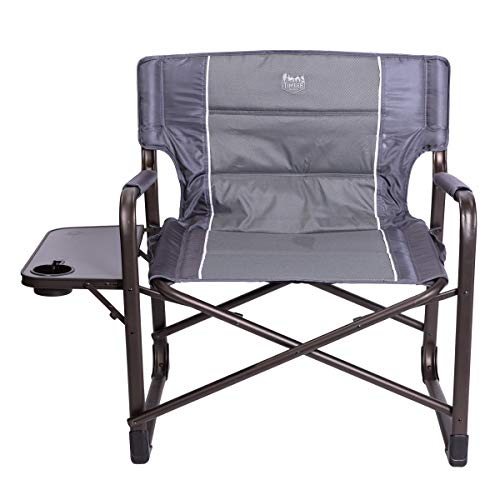 Timber Ridge XXL Directors Chair Oversized Supports 600 lbs, 28' Wide Heavy Duty Folding Camping Chair Fully Padded with Side Table for Outdoor Camp, Patio, Lawn, Garden