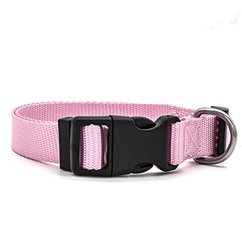 ZZCR Collar De Perro Mascota Collar De Nailon para Mascotas Collar De Entrenamiento Anti-Accidente Cerebrovascular para Perros Pequeños Rosa 2cmx50cm