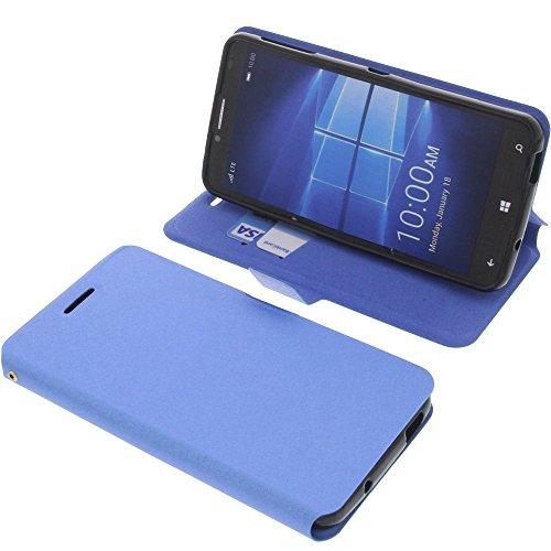 foto-kontor Tasche für Alcatel One Touch Idol 4 Pro Book Style blau Schutz Hülle Buch