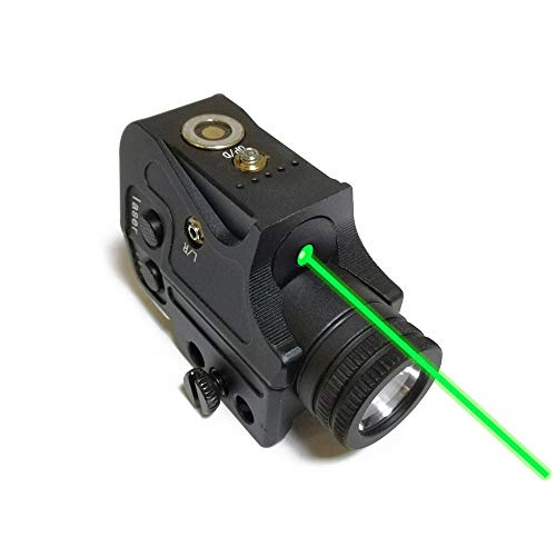 Metal Tactical Green Laser Sight & Flashlight Laser Combo,Magnetic Charging Green Dot Laser Light Combo Fits Standard 20mm Picatinny Rail,Used for Pistols Rifles Handguns Airsoft Guns