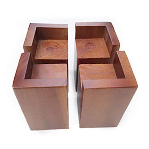Betterhöhung, Möbelheber, Holz, L-förmig, 4 Packungen – hebt Couch, Sofa oder Tisch, zum Anheben von Sofa-Beinen und Schrank-Beinen (Größe: B)