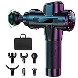 Pistola per massaggi a mano elettrica con 30 velocità, 6 diverse testine massaggianti, strumenti di rilassamento