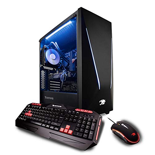 iBUYPOWER Pro Gaming PC Computer Desktop Intel i7-9700k 8-Core 3.6 GHz, Geforce RTX 2070 8GB, 32GB DDR4, 1TB Solid State Drive, Z370, Liquid Cooling, WiFi Ready, Windows 10, VR Ready (Trace 050i)