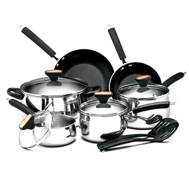 Paula Deen Signature Stainless Steel II 12-Piece Cookware Set