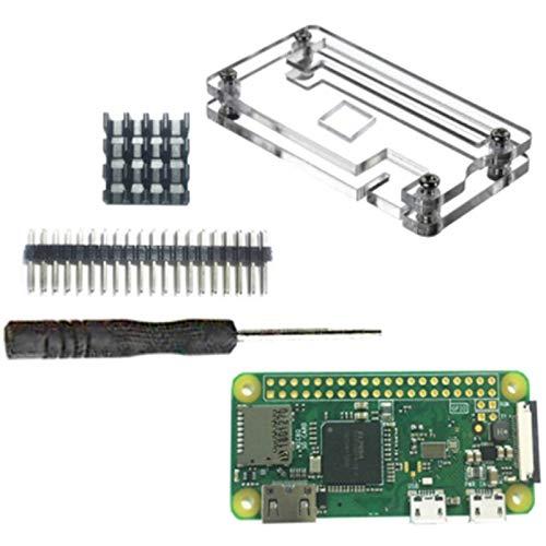 KAPAYONO for Raspberry Pi Zero W Kit 5MP HeatSinks Screwdriver Zero Case Cable 15cm
