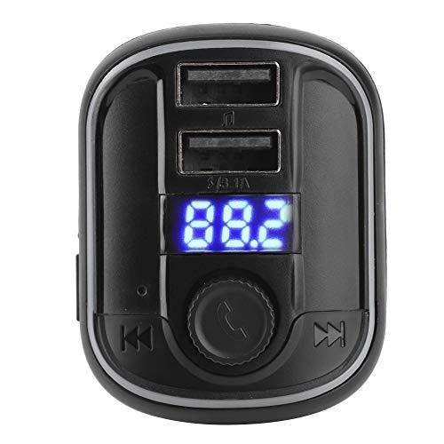 Reproductor de coche manos libres, estrictamente, reproductor de coche Bluetooth, inusual, ruidoso, para coche, música,(black)