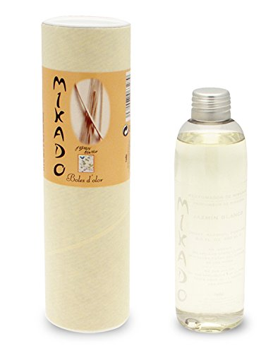 BOLES D'OLOR Jasmin Blanc - Recharge pour diffuseur Mikado 200 ML (avec anches gratuites)