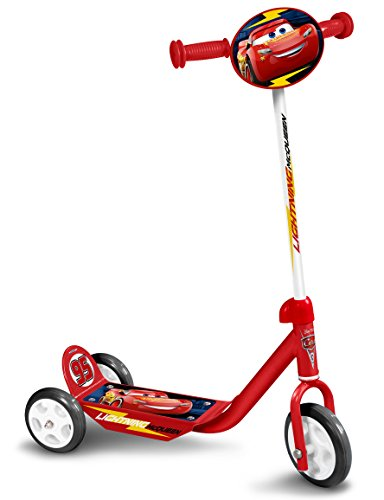 Ni/ños STAMP SAS Cars 3 Scooter Foldable Red 5+