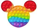 Pop it Fidget Toy , Juguete Sensorial Antiestres para Niños y Adultos , Bubble Push Pop , Juguetes de Explotar Burbujas para Aliviar Ansiedad y Estrés , Pop it Mickey Mouse Multicolor