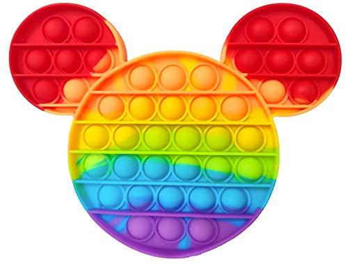 Fidget Fidget Toy Juguete Antiestres, Pop It Sensorial Mickey Mouse para Niños y Adultos, Bubble Push Pop it Mickey - Juguetes Antiestrés de Explotar Burbujas para Aliviar estrés y Ansiedad.