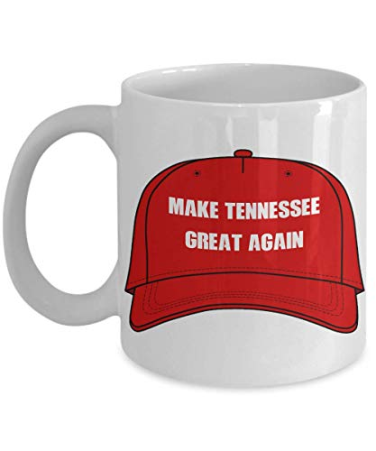 Donald Trump Makes Tennessee Great Again - Red Hat Political Mug - Great Gift Political Satire - Christmas, Holidays, State Novelty Mug
