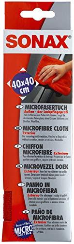 SONAX MicrofaserTuch Außen - der Lackpflegeprofi (1 Stück) hochwertig und flauschig, zum Entfernen von Polierrückständen | Art-Nr. 04162000