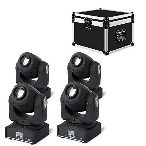 ETEC LED Moving Head E30 Pocket Spot Set mit Flightcase DMX Gobo DJ Party Disco