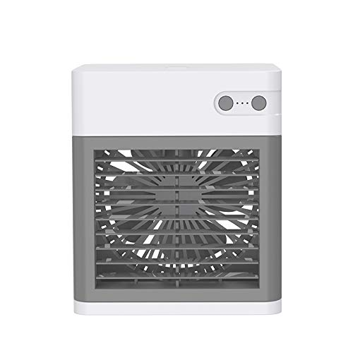 Nrpfell Ventilador de PulverizacióN, Ventilador de Aire Acondicionado Carga, Enfriador de Aire Escritorio, PequeeO Ventilador RefrigeracióN por Agua para Oficina, Hogar, Blanco