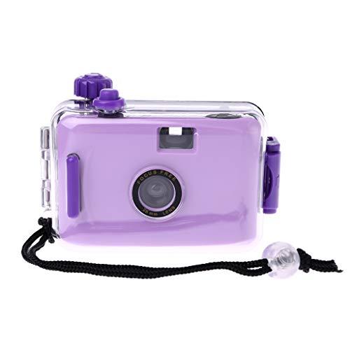 karrychen Underwater Waterproof Lomo Camera Mini Cute 35mm Film with Housing Case New- Purpl