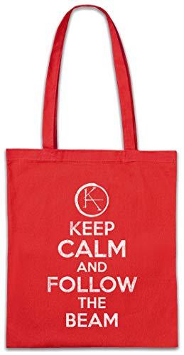 Urban Backwoods Keep Calm and Follow The Beam Hipster Bag Beutel Stofftasche Einkaufstasche