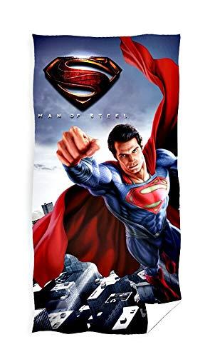 Superman - Toalla de baño, algodón, Multicolor, 70 x 140 cm