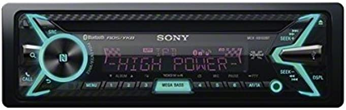 Sony MEX-XB100BT Single DIN Hi-Power Bluetooth in-Dash CD/AM/FM/SiriusXM Ready Car Stereo with 160W RMS (CEA Rated Power) Built-in 4-Channel Amplifier Discontinued by Manufacturer