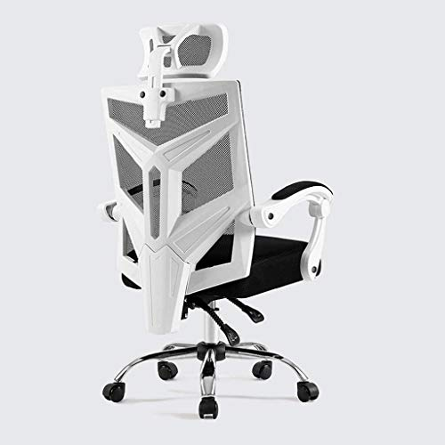 office chair Fhw Chairs Computer Chair, Backrest Ergonomic Chair, Home Office Boss Chair, Reclining Office Lift Swivel Chair Gaming Seat (Size : Black Latex Cushion with Footrest)