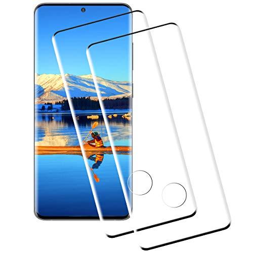 Miuphro Cristal Templado Compatible con Samsung Galaxy S20 [2-Unidades], Protector de Pantalla Samsung Galaxy S20, [2.5d Borde Redondo][Fácil Instalación][Alta Definicion][9H Dureza]