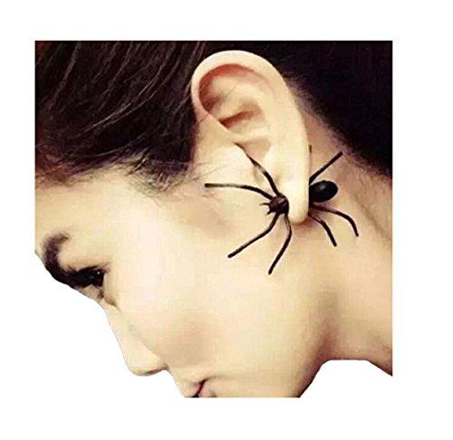 our fantasy time 1 x Orecchino a forma di ragno, unisex