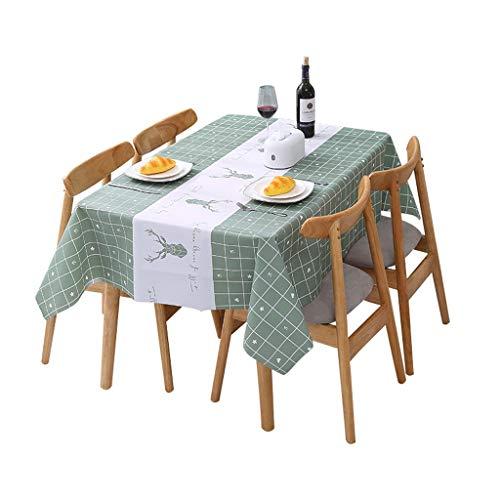 DYXYH Café de Cocina Mantel de Dibujos Animados Rectangular Cuadrado Mantel Tela PVC Impermeable a Prueba de Aceite Decorativo Cubierta de Mesa. (Size : 137 * 137cm)