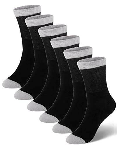 Mens Diabetic Socks with Non-binding Top and Seamless Extra Wide Cotton Ankle Black