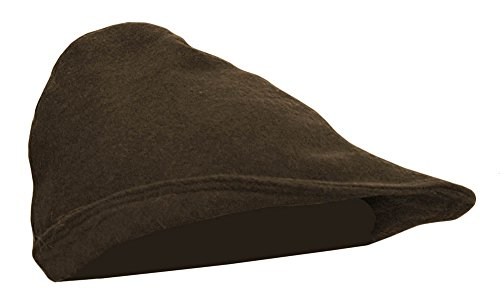 Mittelalter Hut aus Wolle Robin Hood 100% Wolle Hut Haube Ritter LARP Kleidung Wikinger (Braun)