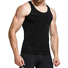 Aptoco Vest for Men,Compression Slimming Vest Body Shaper Tops for Weight Loss,Neoprene Chest Body Tight Underwear
