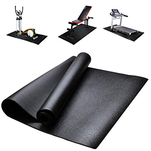 GIOVARA Fitnessgeräte und Übungsmatte, rutschfest, stoßfest, Bodenschutzmatte für Laufbänder, Fahrräder, Ruder, Crosstrainer und andere Fitnessgeräte, 180 cm x 80 cm