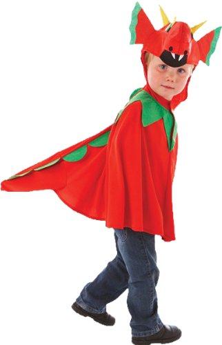 Christy's 994994 Costume sympathique avec tête de dragon Rouge 3-7 ans
