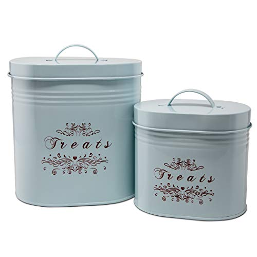 One for Pets Treat Canister Set – Pet Treats Jar Set, Blue