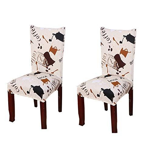 MEISISLEY Stuhlhussen günstig Stuhl bezüge Abdeckungen für esszimmer stühle Diningchair abdeckungen Esszimmer Stuhl hussen Dinning stühle Covers Set of 2,White
