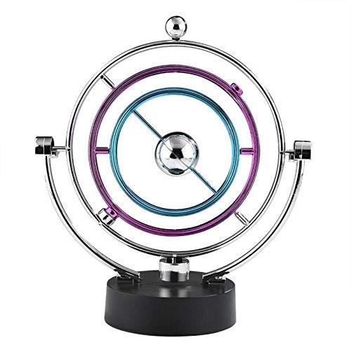 RENFEIYUAN Electronic Swing Ball Desk Perpetual Motion Physikalische Wissenschaft Spielzeug Kinetische Kunst Globus Newton Pendel für Büro Home Ornamente Kugeln pendel