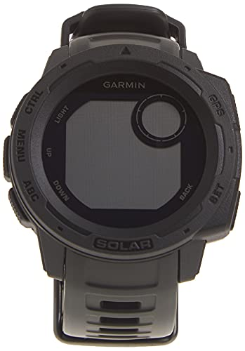 Garmin Instinct Solar, Rugged Outdoor Smartwatch with Solar Charging Capabilities, Built-in Sports Apps and Health Monitoring, Graphite