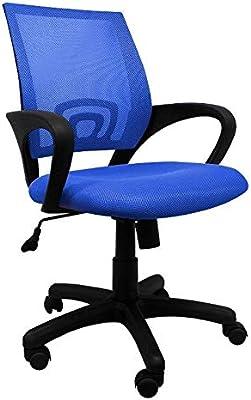 Regalos Miguel - Sillas Oficina - Silla Midi - Azul y Negro