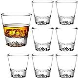 Whiskygläser, 284 ml, Steingläser, schwere Basis, Schnapsgläser für Getränke, Likör, Spirituosen, doppelseitige Gläser, Wodka-Gläser, altmodische Cocktailgläser, Tequila-Becher, Trinkbecher, 8 Stück
