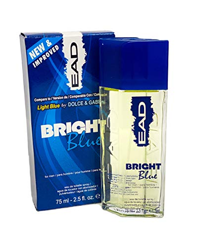 EAD Long Lasting Designer Perfumes for Men 2.5 Fl.oz (Bright Blue Compare to Light Blue by D&G)