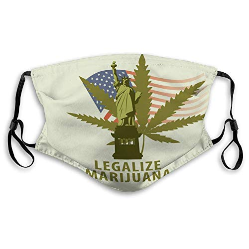 Mouth Shield Dust Face Shield Banner for Legalize Marijuana with Cannabis Leaf Unisex Shield (Best Performing Marijuana Stocks 2019)