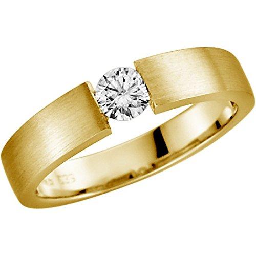 Verlobungsring mit Diamant 0.20 ct w/si Gelbgold