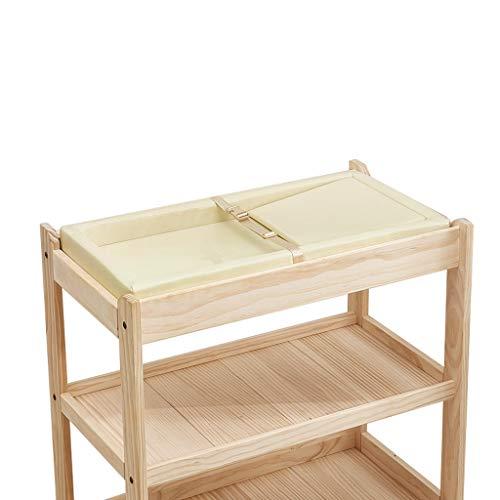 Houten luiertafel, rek, wasrek, kan worden gereserveerd voor stille caster, geschikt voor kinderen van 0-6 jaar, geen geur