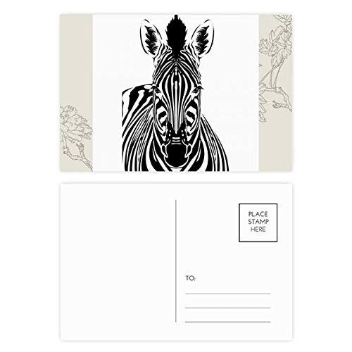 Simple Pinto Animal Flower Postal Set Gracias Tarjeta Postal Lateral 20pcs