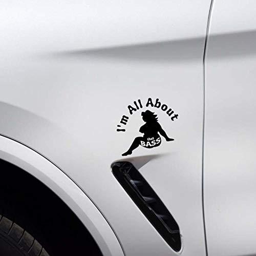 2Pcs Auto Aufkleber Niedlicheich Bin Ganz Über Leicht Fetthaltige Mädchen-Auto-Aufkleber-Gute Schwarze Vinylabziehbild-Art 12 * 10.1Cm