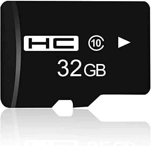 Tarjeta de Memoria Micro SD 32GB, Tarjeta Micro SD Flash de Alta Velocidad 90MB / s, C10, Full HD Video V10, FAT32 Tarjeta Flash para Teléfono, Cámara, PC, Altavoz