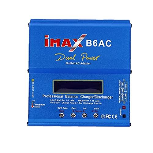 NiceJoy Cargador Imax B6AC Inteligente Compacto descargador 80w T Ranuras AC a DC Adaptador Azul Style3