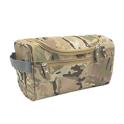 MoGist Trousse de Toilette Sac de Rangement Imperméable Sac de Voyage Maquillage Étanche Tissu Oxford Camouflage Jaune 26 * 15 * 16cm