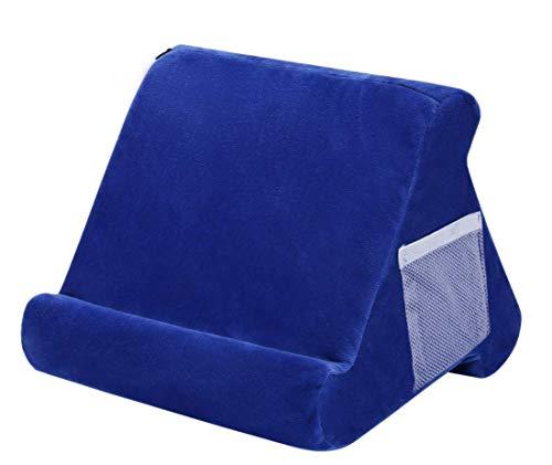 Soporte de almohada suave multiángulo, con bolsillo de red y tres ángulos de visión ajustables, juego de funda de almohada suave para tableta y tablet, ideal para la mayoría de teléfonos inteligentes
