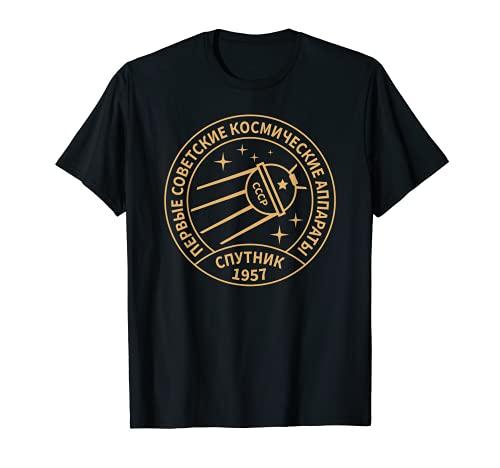 Vintage Sputnik UdSSR Unión Soviética Espacial Soviética Camiseta